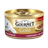 Gourmet Gold (с курицей и печенью), 85гр