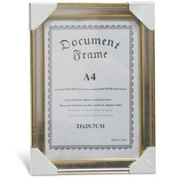 DOCUMENT Рамка для фото 409 A4 пластиковая золотая