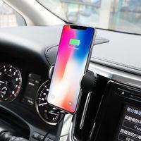 Автодержатель Hoco CA60 Aspiring infrared sensor wireless charging car holder