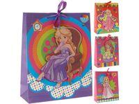 """Пакет для детских подарков """"Принцесса"""" 32X26X10сm"""