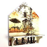 Ключница деревянная Дом