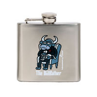Фляжка для алк. Laken Kukuxumusu Hip Flask Bull Father 0.150 L, steel, KP5-BF