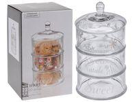 cumpără Borcan din sticla pentru pastrare D12.5cm, H21.5cm, cu 3 nivele în Chișinău