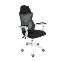 Oфисное кресло 6761 белое сетка  черная