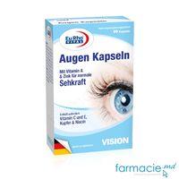 Augen kapseln (Lutein 10mg,Vit.E 30mg,Vit.A 800µg) caps. N60 ( sanatatea ochilor)  EuRho Vital