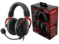 купить HyperX Cloud II Headset, Red, Solid aluminium build, Microphone: detachable, USB Surround Sound 7.1, Frequency response: 15Hz–25,000 Hz, Cable length:1m+2m extension, 3.5 jack, Pure Hi-Fi capable, Braided cable, Durable travel pouch в Кишинёве