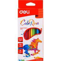 DELI Карандаши цветные DELI Run, 12 цветов