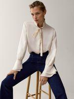 Блуза Massimo Dutti Слоновая кость 5157/501/251