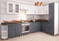 Bucătărie Bafimob Corner (High Gloss) 3.4x1.7m White/Grey