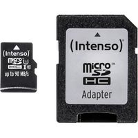 Флэш карта памяти Intenso Micro SD 16 GB + SD Adapter, UHS-I, Premium