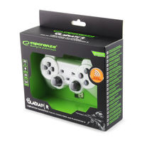 Gamepad Wireless Esperanza GLADIATOR EGG108W  White