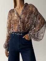 Блуза Massimo Dutti Принт 5103/811/629