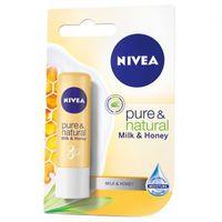 Balsam de buze Nivea Lip Care Pure & Natural Milk&Honey 4,8 g