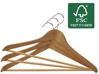 купить Набор вешалок деревянных FSC 3шт, 45X23cm в Кишинёве