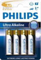 Батарейка Philips Ultra Alkaline AA B4 (4 шт.), LR6 Ultra Alkaline B4
