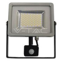 Прожектор LED V-Tac с датчиком — 30W Black/Grey Body SMD 3000K VT-4830