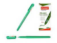Ручка гелевая PS-001 soft ink,1mm зеленая