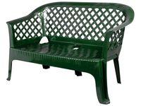 Скамья садовая пластиковая 131X74X68cm, зеленая