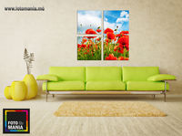 Картина напечатанная на холсте - Триптих Цветы 0006