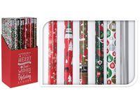 """Бумага оберточная для подарков H70cm, L2m, """"Новогодний дизай"""