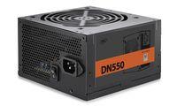 "PSU DEEPCOOL ""DN550 New version"", 550W, ATX 2.31, 80 PLUS®, Active PFC, 120mm fan with PWM,  +12V (50A), 20+4 Pin, 1xEPS(4+4Pin), 5x SATA, 2xPCI-E(6+2pin), 3x Peripheral, MTBF100000Hours, CircuitShield™, Black"