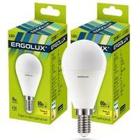 Светодиодная лампа Ergolux LED G45 9W E14 3000K 13173