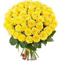 купить Яркий букет из 45 желтых роз  60-70 CM в Кишинёве