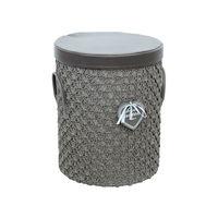купить Круглая корзина из текстиля 360x440 мм, серый в Кишинёве