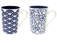 Чашка в голландском стиле, синяя внутри