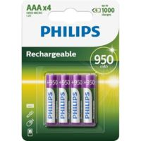 Батарейка Philips Rechargeable 950 mAh AAA B4 (4шт.), R03 MULTILIFE B4