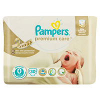 Подгузники Pampers Premium Care 0 (до 2,5 кг) 30 шт