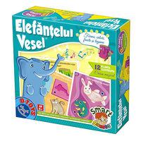 Настольная игра Elefantelul vesel - Forme, culori, fructe si legume, код 41199