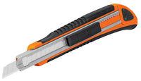 Нож c с убирающимся полотном прорезиненный TRUPER CUT-5X