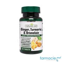 Ghimbir, Turmeric & Bromelain comp.N60 Natures Aid