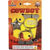 Set cowboy: cătușe și Insigna, cod 44089