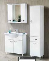 Шкаф с зеркалом Olimpia 80cm (white)