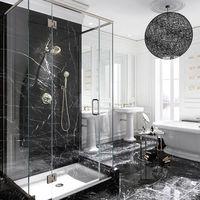 Мраморный мрамор Nero Marquina Marble Polisata 60 x 30 x 1,8 см
