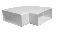 cumpără Cot orizontal canal ventilare plat, plastic 55 х 110 / 90°  KLH Europlast în Chișinău