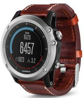 GARMIN Fenix 3 Sapphire Silver Leather Band