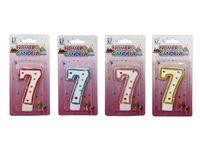 Свеча-цифра 7 (с точками)