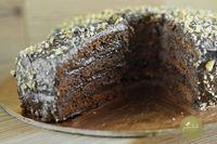 Торт Нукушор с кэробом. (Без белой муки, глютена и сахара)