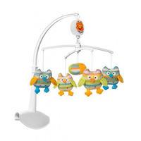 BabyOno 1371 Карусель на кроватку Совы, музыкальная с мягкими игрушками