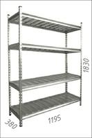 купить Стеллаж оцинкованный металлический Gama Box  1195Wx380Dx1830 Hмм, 4 полки/МРВ в Кишинёве