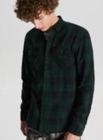 Рубашка CROPP Темно зеленый