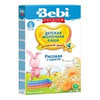 Bebi Premium каша рисовая молочная с курагой, 4+мес. 250г