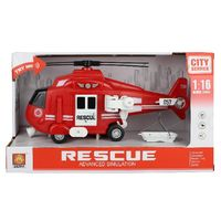 "1:16 Инерционный Вертолет ""Fire & Rescue Helicopter"" (свет / звук)"