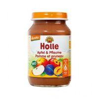 Piure de mere și prune Holle (6 luni+), 190g