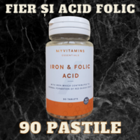 Железо и фолиевая кислота «MyProtein» - 90 капсул.