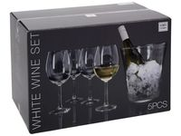 купить Набор ведро для льда и 4 бокала для белого вина Atmosfera в Кишинёве