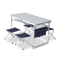 PINGUIN Table Set, белый/чёрный